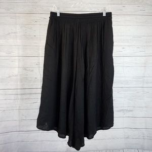 Elevenses Cropped Palazzo Pants Sz Small Black
